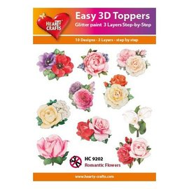 Easy 3D topper Romantic flowers