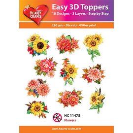 Hearty Crafts Easy 3D topper Sunflowers