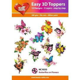 Easy 3D topper Butterflies on flowers