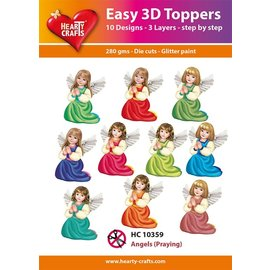 Hearty Crafts Easy 3D topper Angels Praying