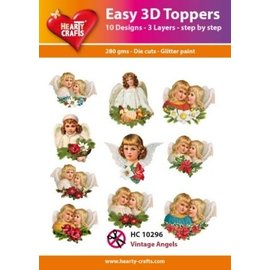 Easy 3D topper Vintage Angels