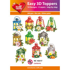 Hearty Crafts Easy 3D topper Lantaarns