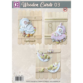 Creatief Art Wooden Cards 03 - Baby
