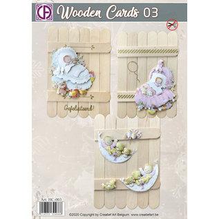 Creatief Art Holzkarten 03 - Baby