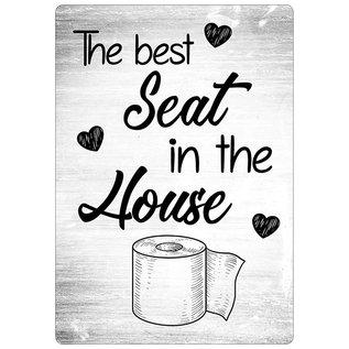 Spreukenbordje: The Best Seat In The House! | Houten Tekstbord