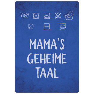 Spreukenbordje: Mama's Geheime Taal! | Houten Tekstbord