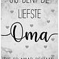 Creatief Art Spreukenbordje: Jij Bent De Liefste Oma Die Er Maar Bestaat! | Houten Tekstbord
