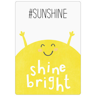Spreukenbordje: #SunShine, Shine Bright! | Houten Tekstbord