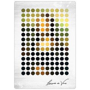 Spreukenbordje: Mona Lisa Abstract Minimalistisch| Houten Tekstbord