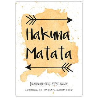 Spreukenbordje: Hakuna Matata | Houten Tekstbord