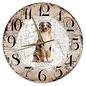 Creatief Art Houten Klok - 30cm - Hond - Australian Shepherd Dog
