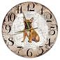 Creatief Art Houten Klok - 30cm - Hond - Bulldog