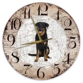 Creatief Art Houten Klok - 30cm - Hond - Beauceron