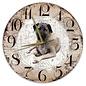 Creatief Art Houten Klok - 30cm - Hond - Kangal