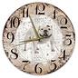 Creatief Art Houten Klok - 30cm - Hond - Amerikaanse Bully