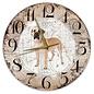 Creatief Art Houten Klok - 30cm - Hond - Boerboel