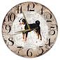 Creatief Art Houten Klok - 30cm - Hond - Appenzeller