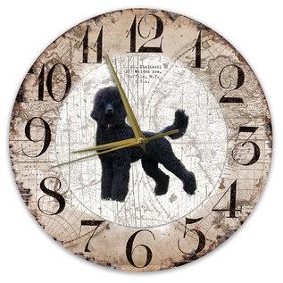 Creatief Art Houten Klok - 30cm - Hond - Koningspoedel