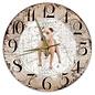 Creatief Art Houten Klok - 30cm - Hond - Amerikaanse Stafford