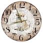 Creatief Art Houten Klok - 30cm - Hond - Tibetaanse Spaniel