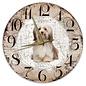 Creatief Art Houten Klok - 30cm - Hond - Havanezer