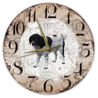 Creatief Art Houten Klok - 30cm - Hond - Wetterhoun