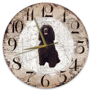 Creatief Art Houten Klok - 30cm - Hond - Ierse Water Spaniel
