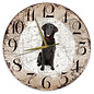 Creatief Art Houten Klok - 30cm - Hond - Flatcoated Retriever