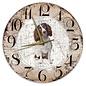 Creatief Art Houten Klok - 30cm - Hond - Engelse Springer Spaniel