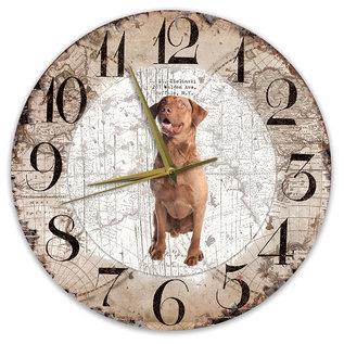 Creatief Art Houten Klok - 30cm - Hond - Chesapeake Bay Retriever