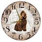 Creatief Art Houten Klok - 30cm - Hond - Barbet