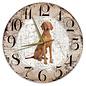 Creatief Art Houten Klok - 30cm - Hond - Vizsla Korthaar