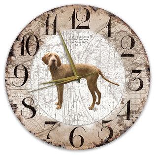 Creatief Art Houten Klok - 30cm - Hond - Vizsla Draadhaar