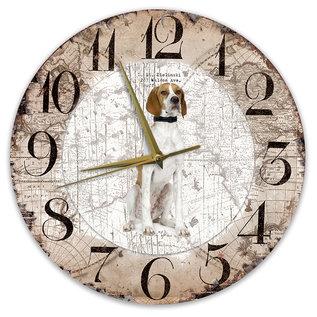 Creatief Art Houten Klok - 30cm - Hond - Pointer