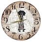 Creatief Art Houten Klok - 30cm - Hond - Grote Münsterländer