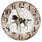 Creatief Art Houten Klok - 30cm - Hond - Drentsche Patrijshond