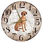 Creatief Art Houten Klok - 30cm - Hond - Rhodesian Ridgeback
