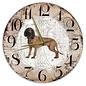 Creatief Art Houten Klok - 30cm - Hond - Beierse Bergzweethond