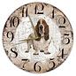 Creatief Art Houten Klok - 30cm - Hond - Basset Hound
