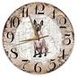 Creatief Art Houten Klok - 30cm - Hond - Mexicaanse Naakthond
