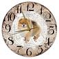 Creatief Art Houten Klok - 30cm - Hond - Keeshond Dwerg