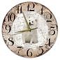 Creatief Art Houten Klok - 30cm - Hond - Japanse Spits