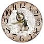 Creatief Art Houten Klok - 30cm - Hond - Alaska Malamute