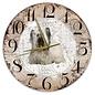 Creatief Art Houten Klok - 30cm - Hond - Skye Terriër