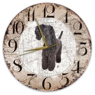 Creatief Art Houten Klok - 30cm - Hond - Kerry Blue Terriër