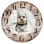 Creatief Art Houten Klok - 30cm - Hond - Dendie Dinmond Terriër