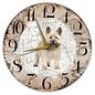 Creatief Art Houten Klok - 30cm - Hond - Cairn Terriër