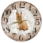 Creatief Art Houten Klok - 30cm - Hond - Australische Terriër