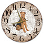 Creatief Art Houten Klok - 30cm - Hond - Airedaleterriër