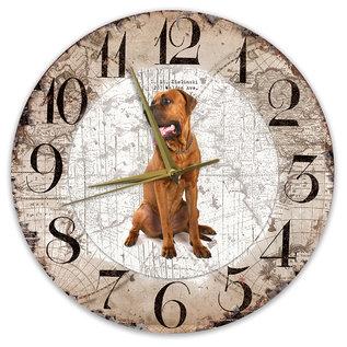 Creatief Art Houten Klok - 30cm - Hond - Tosa